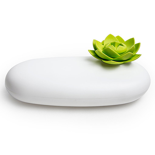 Lotus pebble box (White-Green) by QUALY living with styles