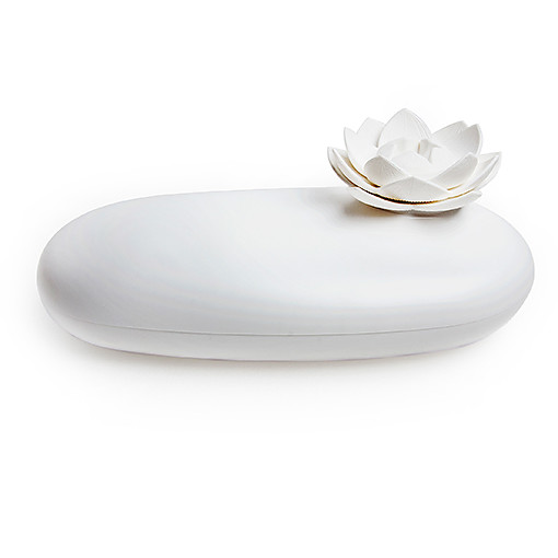 Lotus pebble box (White-White) by QUALY living with styles