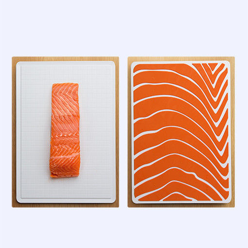 Salmon slice cutting board by QUALY-living with styles