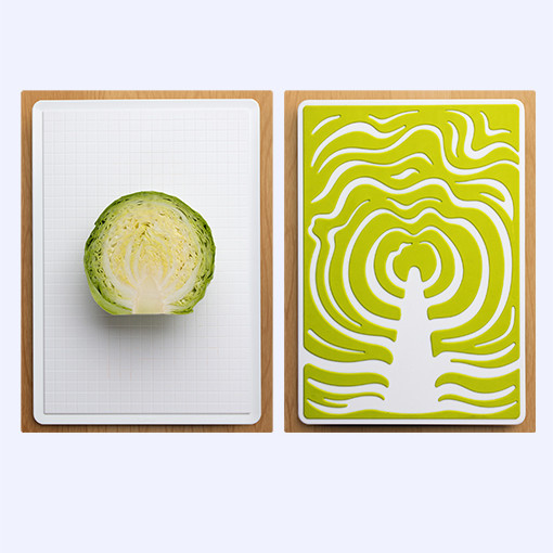 Cabbage slice cutting board by QUALY-living with styles