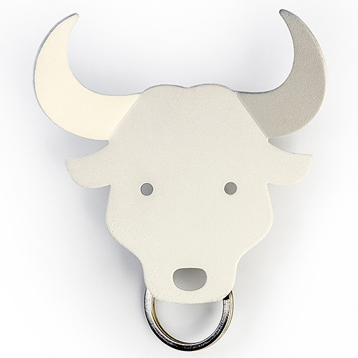 Bull accessories key holder (White) by QUALY-living with styles