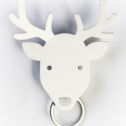 Deer accessories key holder (White) by QUALY-living with styles