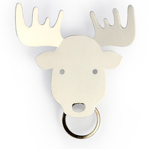 Moose accessories key holder (White) by QUALY-living with styles