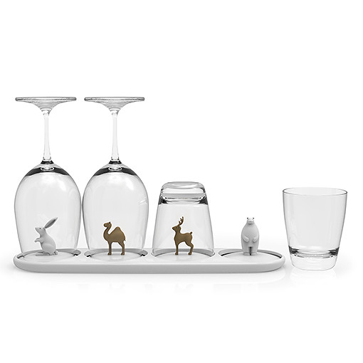 Animal parade glass tray by QUALY living with styles