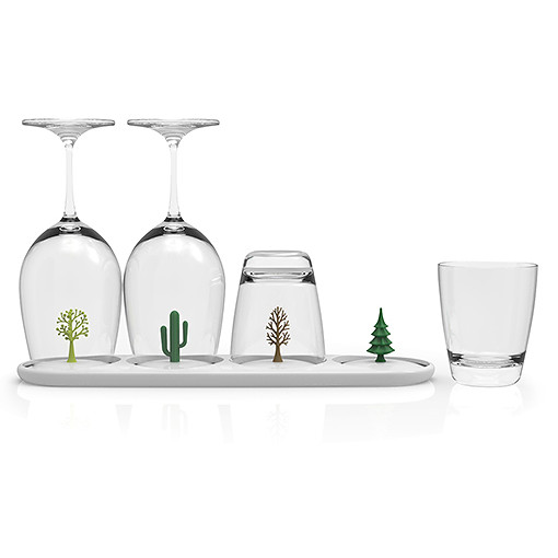 Four seasons glass tray by QUALY living with styles