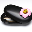 Blossom Pebble Box (Black-Pink)