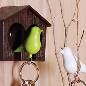 QL10124_Duo Sparrow Keyring_BN-WH-GN