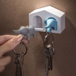 Duo Elephant Key Ring